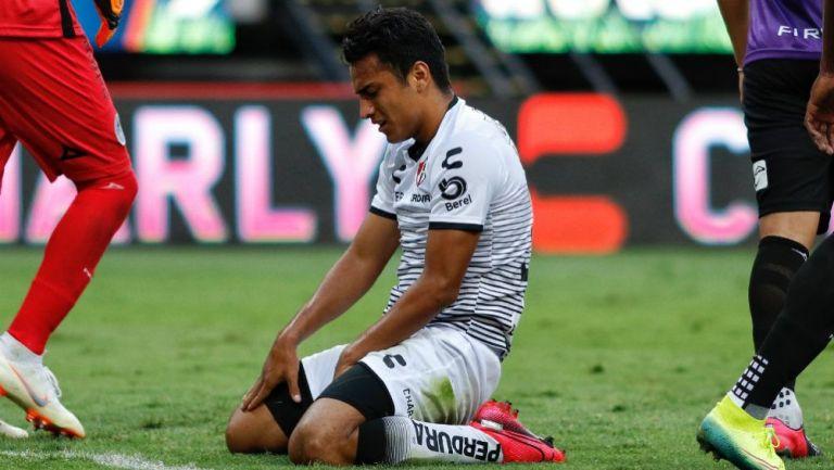 Jairo Torres en lamento con Atlas