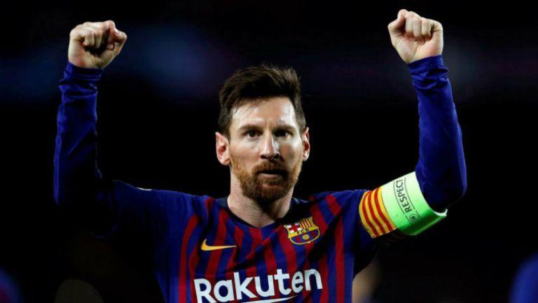 Messi en celebración de gol