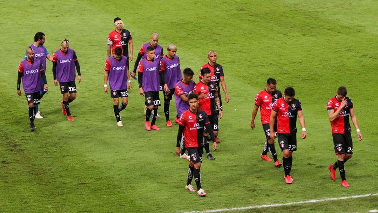 Jugadores del Atlas al final de un partido