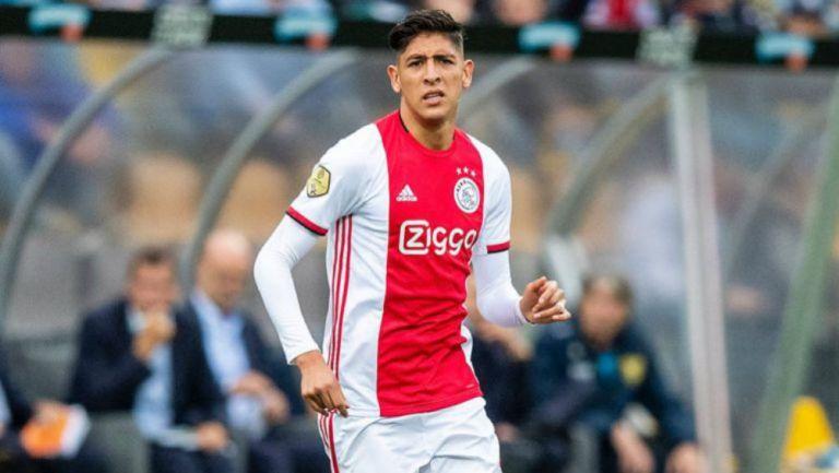 Edson, durante juego del Ajax