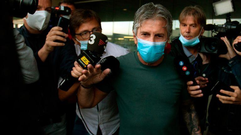 Jorge Messi, padre de Lionel, perseguido por los medios