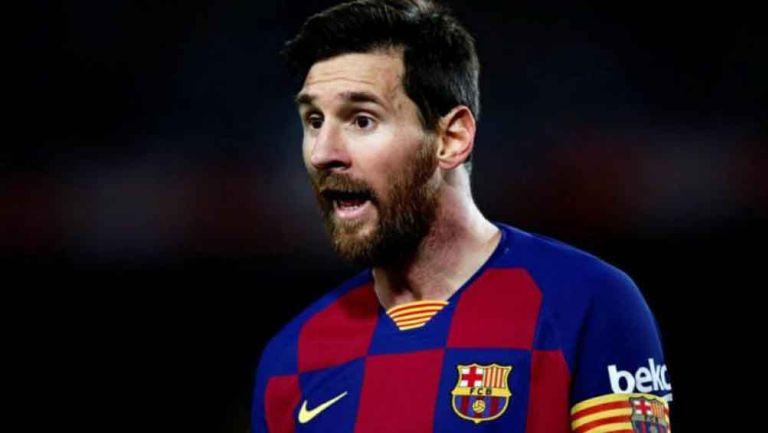 Lionel Messi en juego con el Barcelona