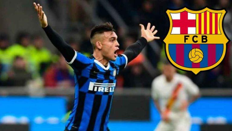 Lautaro Martínez en juego con el Inter de Milán