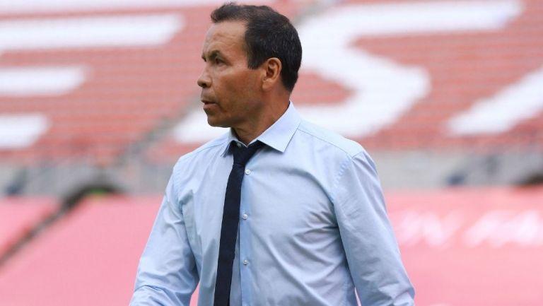 José Guadalupe Cruz durante el partido contra San Luis