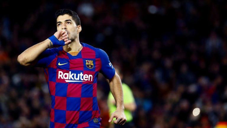 Luis Suárez durante un partido con Barcelona