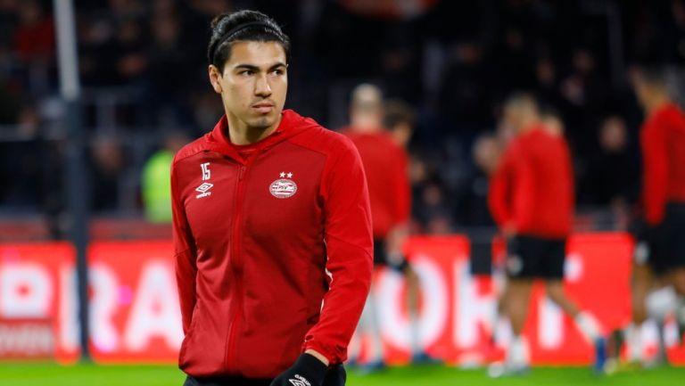 Érick Gutiérrez previo a un partido con PSV