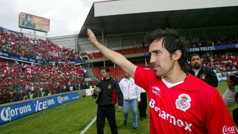 Vicente Sánchez en su paso por Toluca