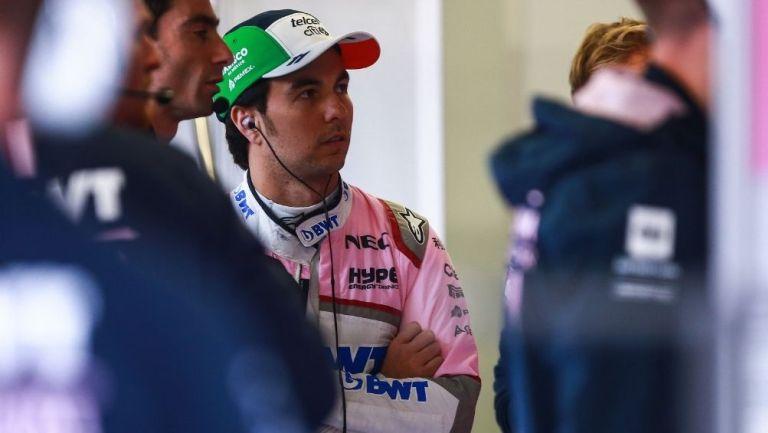 Sergio Pérez previo a una carrera