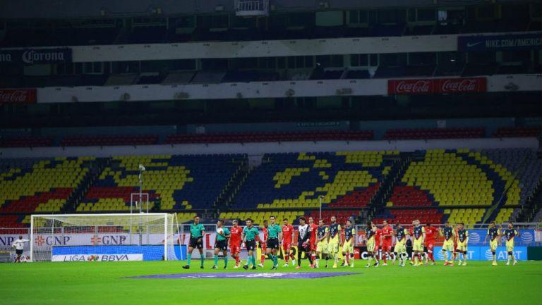 Estadio Azteca vacío en el último partido del AP 2020