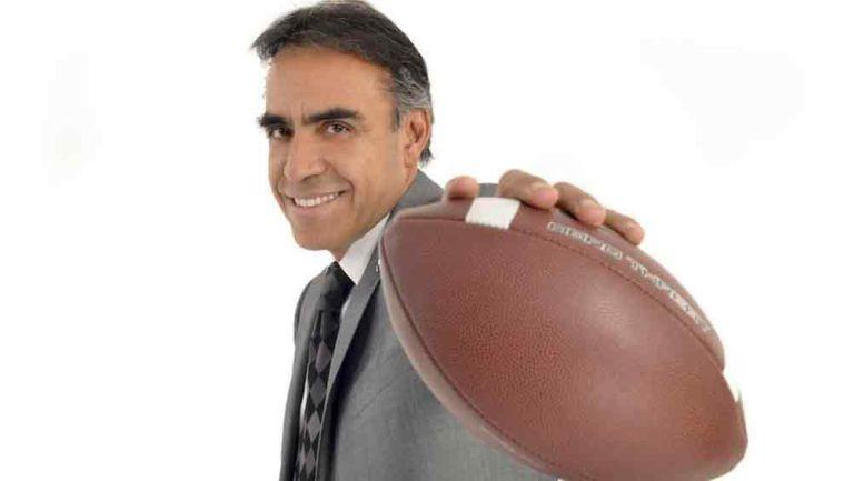 Enrique Garay en un promocional del Ritual de la NFL