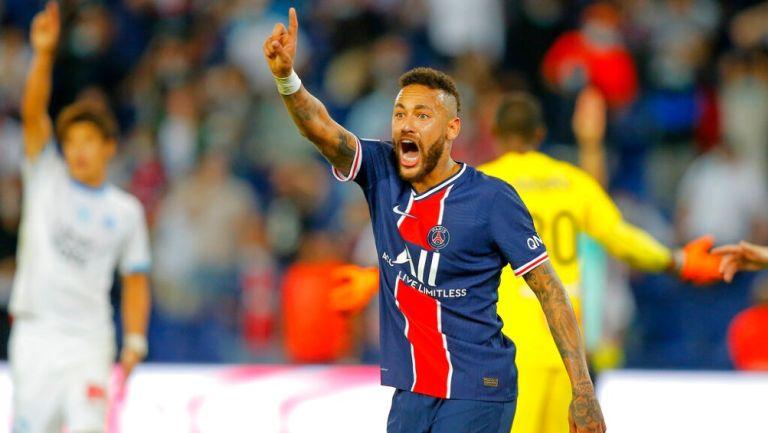 Neymar en el partido vs Marsella