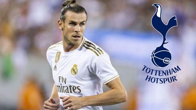 Gareth Bale durante un duelo con el Real Madrid