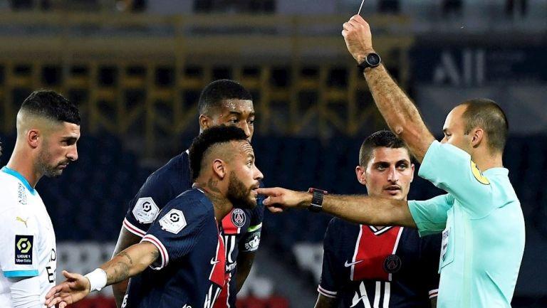 Neymar fue expulsado en partido vs Marsella