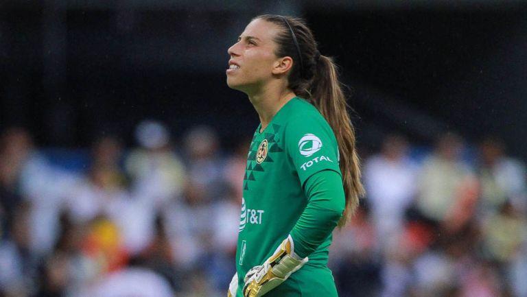 Renata Masciarelli, durante un juego de las Águilas