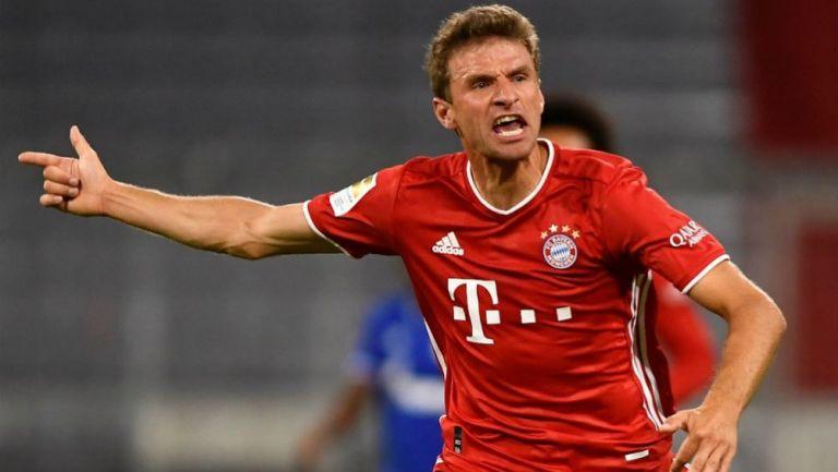 Thomas Müller en celebración con Bayern Munich