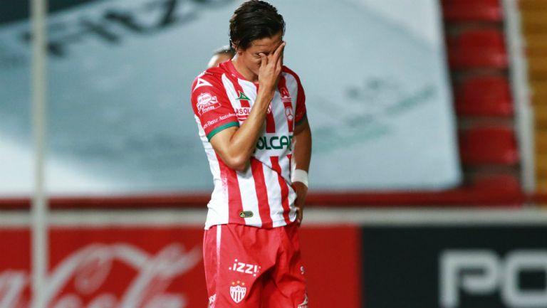 Fernando Arce en lamento de gol
