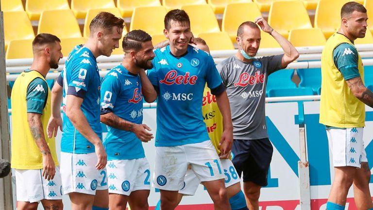 Chucky Lozano, titular y clave en el triunfo de Napoli ante Parma