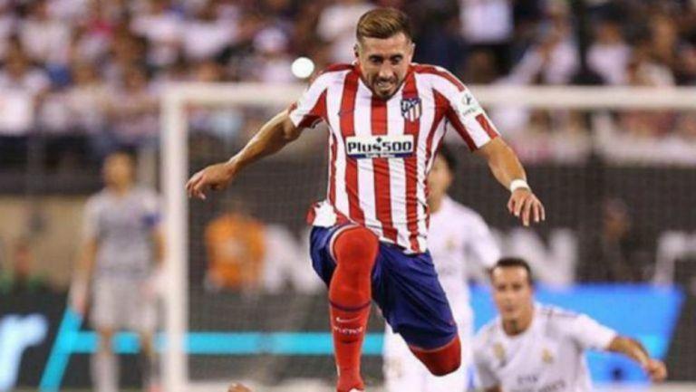 Héctor Herrera en acción con Atlético de Madrid