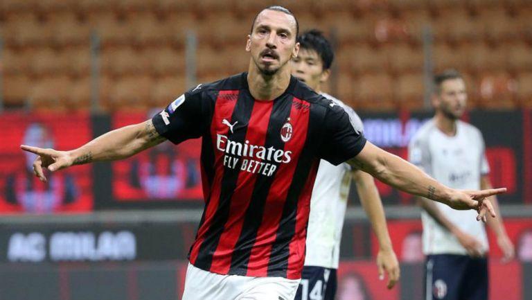 Zlatan en partido con Milán