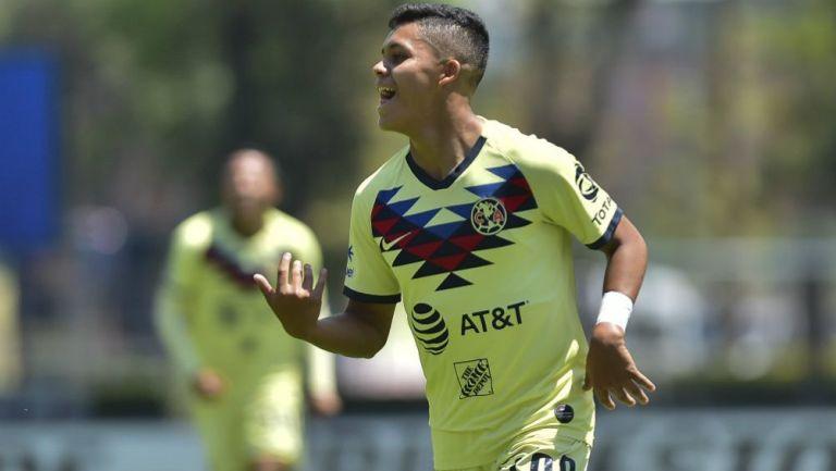Morrison Palma en celebración con América Sub 20