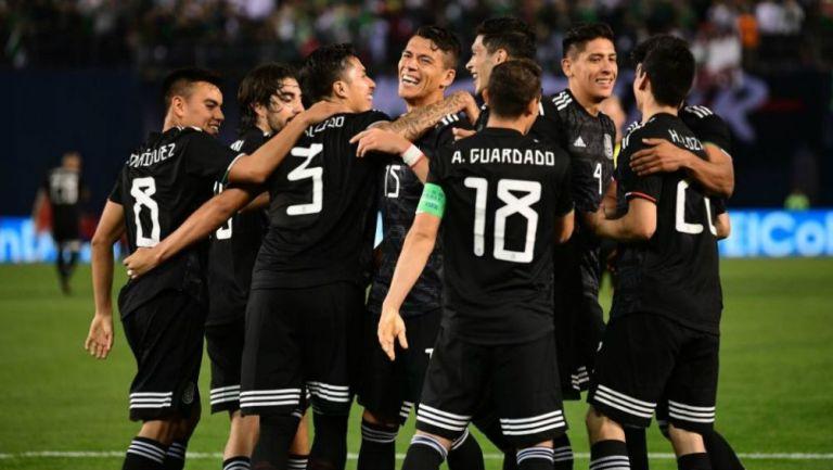 Selección Mexicana en partido