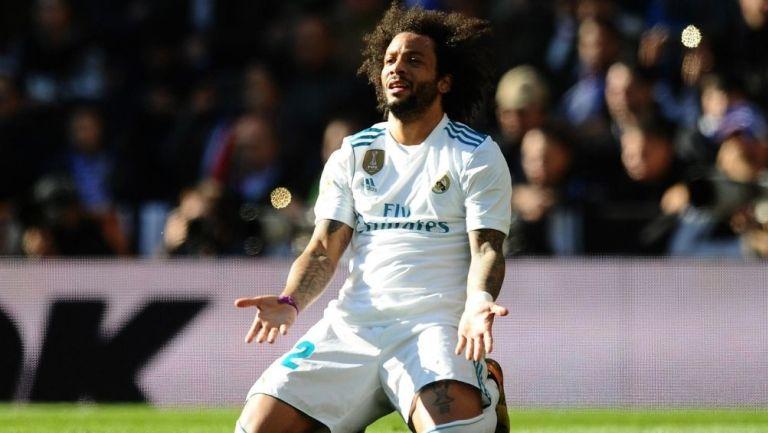 Marcelo en partido con el Real Madrid
