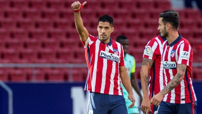 Luis Suárez como jugador del Atlético de Madrid