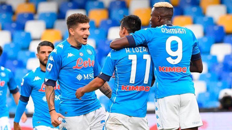 Chucky Lozano anotó su primer gol de la temporada con Napoli