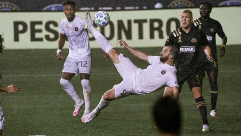 Gonzalo Higuaín en acción con Inter de Miami