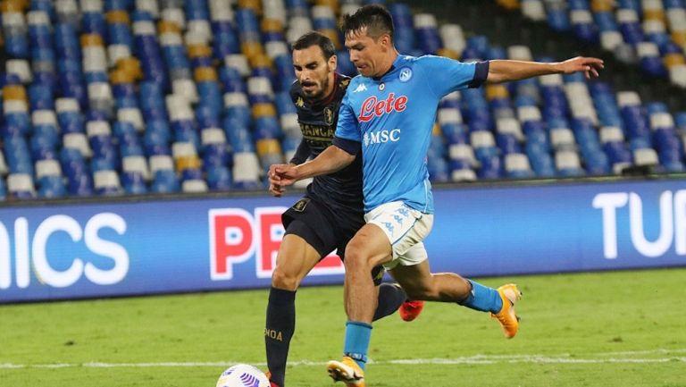 Chucky Lozano en partido vs el Genoa
