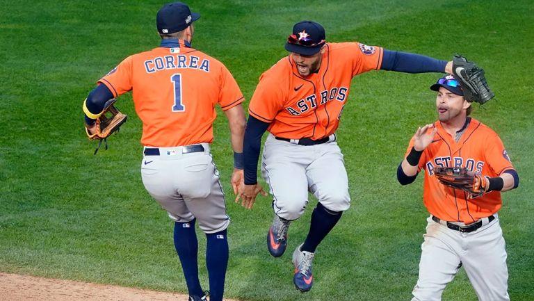 Springer y Correa celebran ante Minnesota