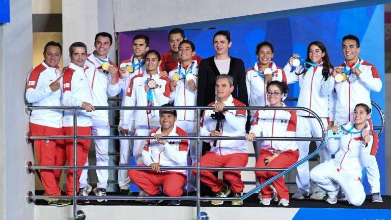 Equipo de clavados en Lima 2019