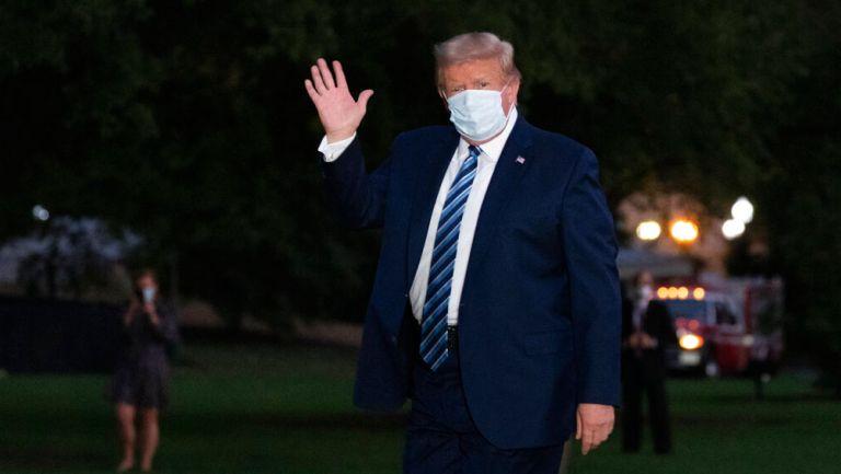 Trump hace su arribo a la casa blanca