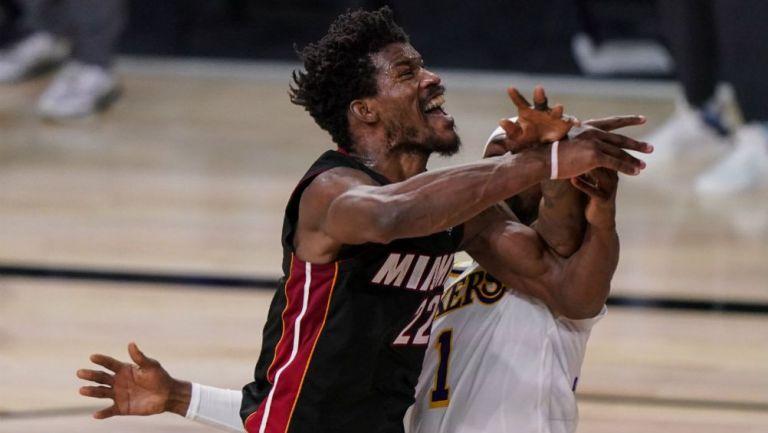 Jimmy Butler en acción ante el Heat