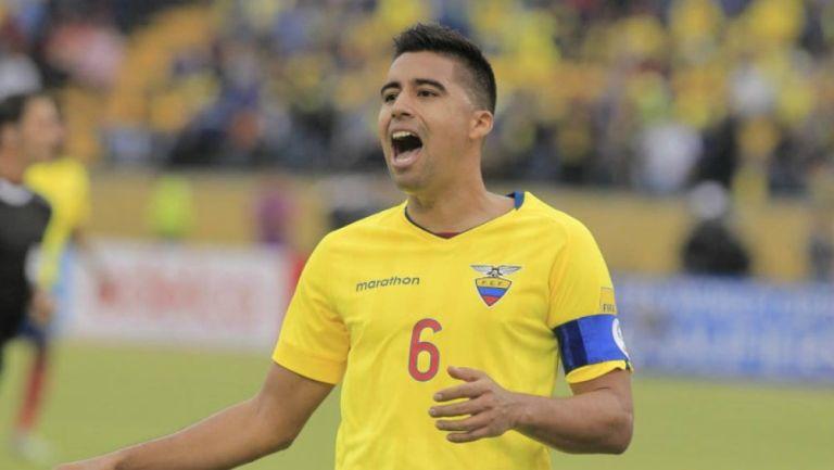 Christian Noboa en lamento de gol
