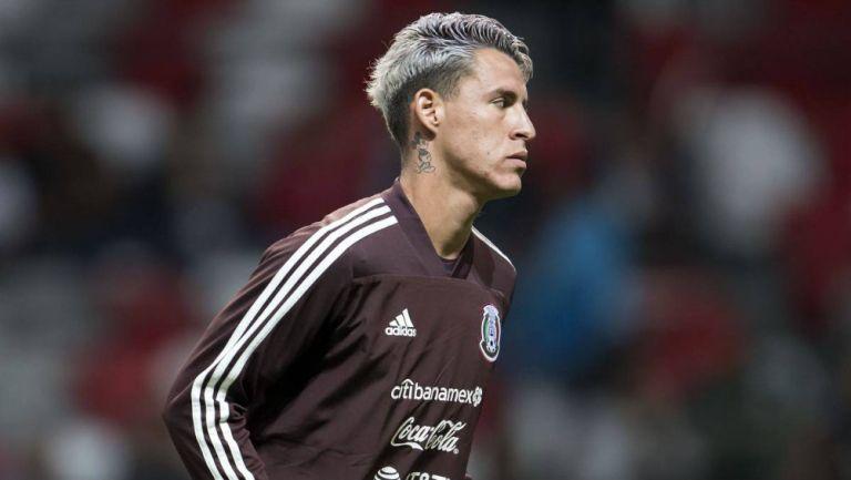 Chicote Calderón en partido con México