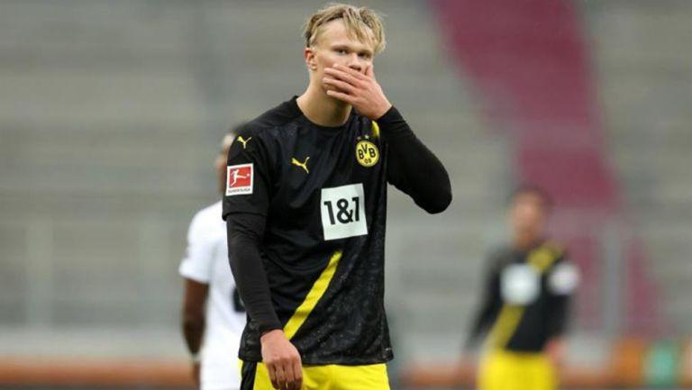 Erling Haaland lamenta una derrota del Borussia Dortmund
