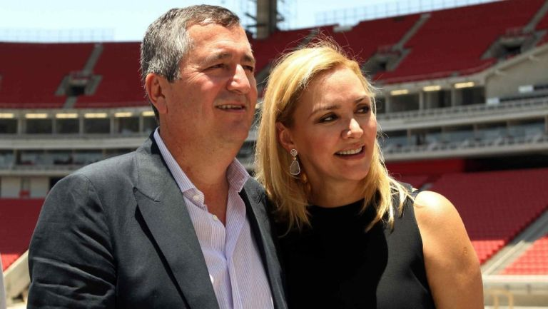 Angélica Fuentes junto a Jorge Vergara