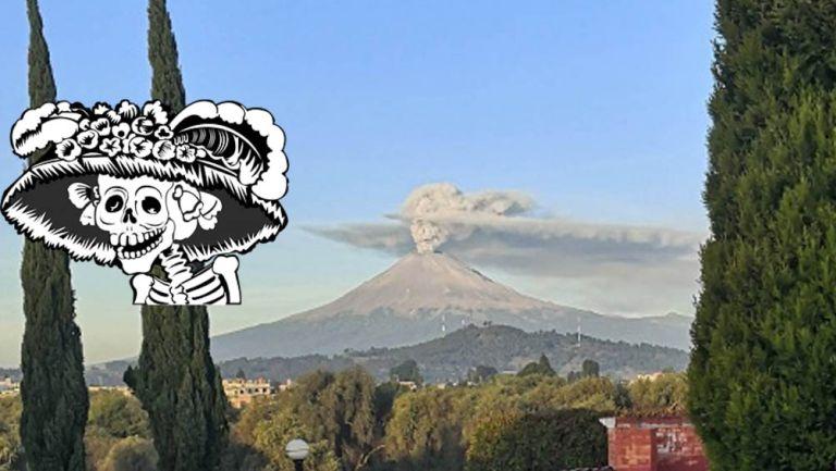 Panorámica de la fumarola del volcán