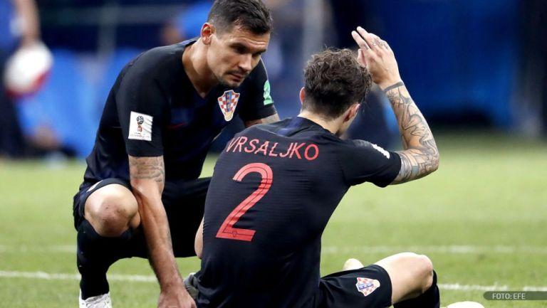 Vrsaljko en un partido con Croacia