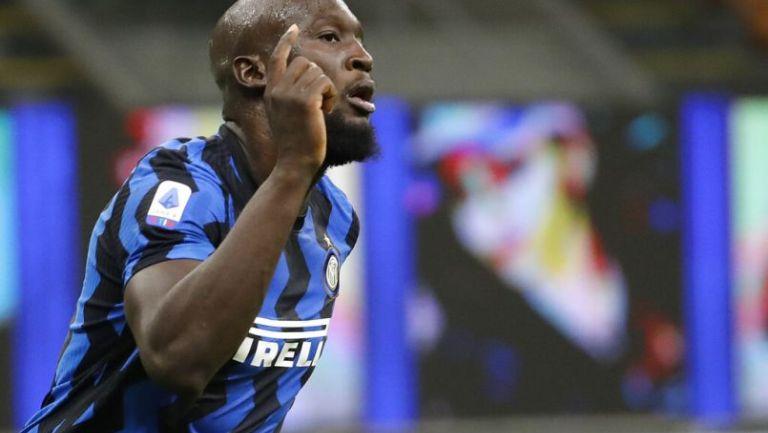 Romelu Lukaku en un partido con el Inter de Milán