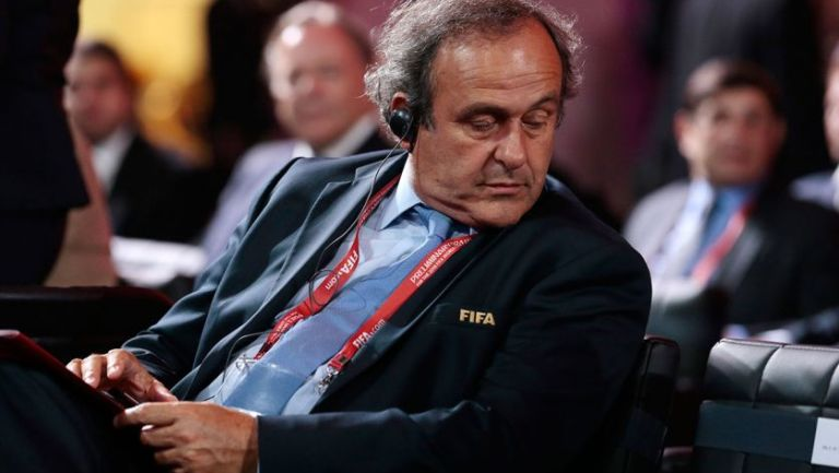 Michel Platini durante una gala de la FIFA