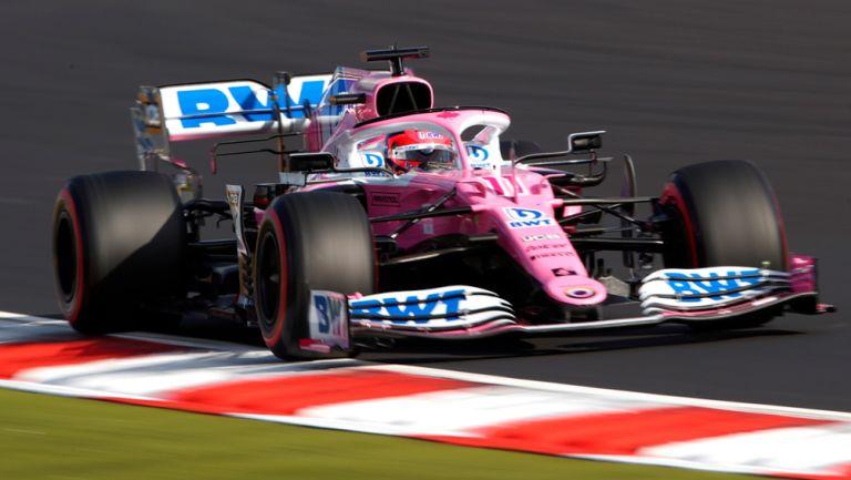Checo Pérez durante el circuito de Nürburgring