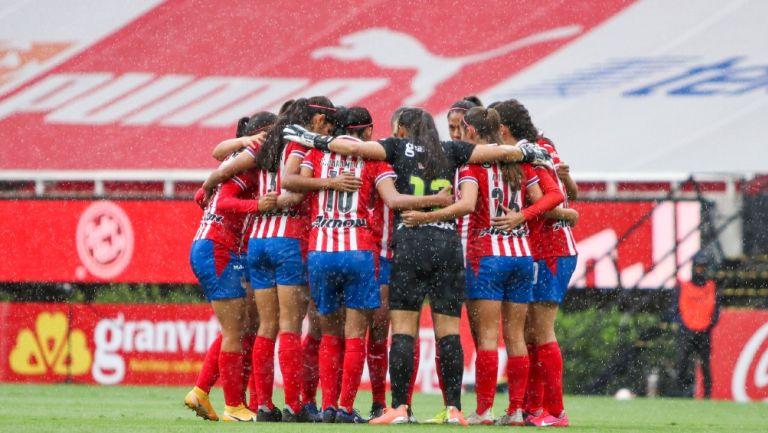 Chivas Femenil previo a un partido