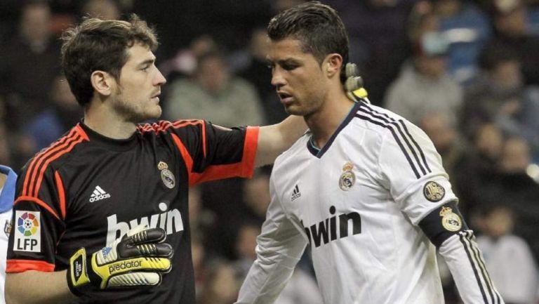 Casillas y Cristiano en su etapa en el Real Madrid