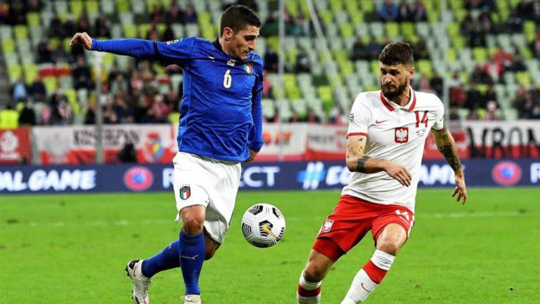 Italia vs Polonia en partido