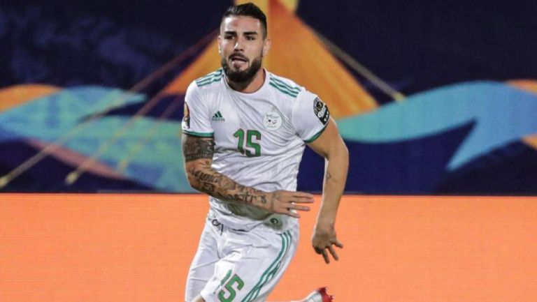 Andy Delort, durante un juego de Argelia