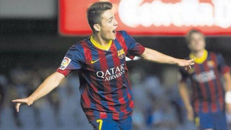 Joan Román como jugador del Barcelona