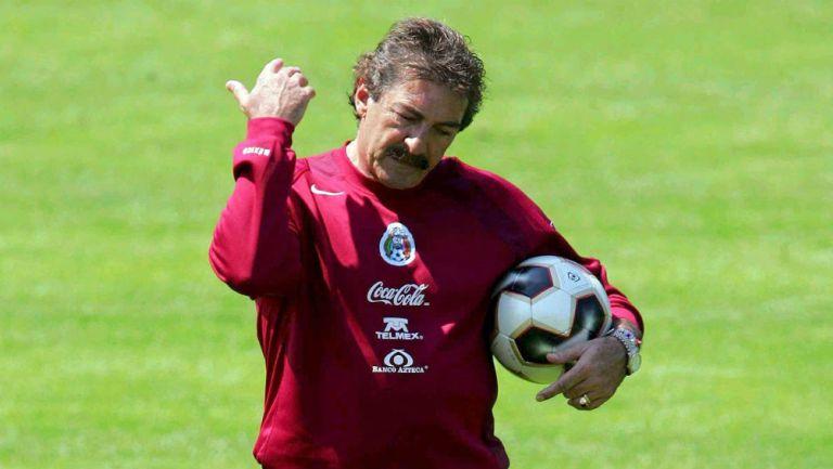 La Volpe en un entrenamiento de la Selección Mexicana