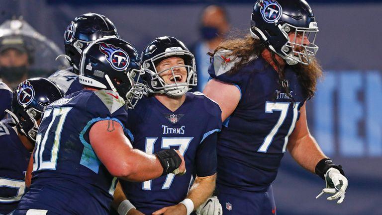 Tannehill sonríe tras anotar un touchdown